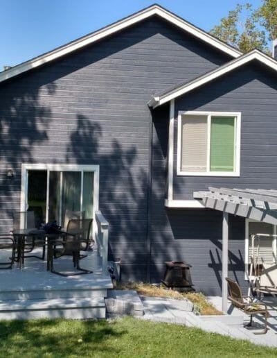 rear of home with painted siding