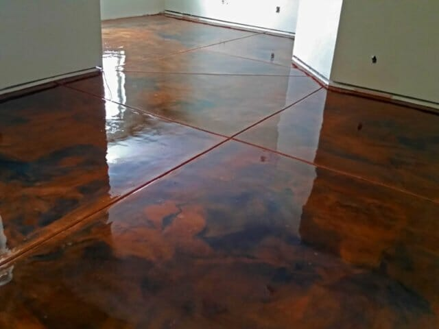 brown gloss finished floor