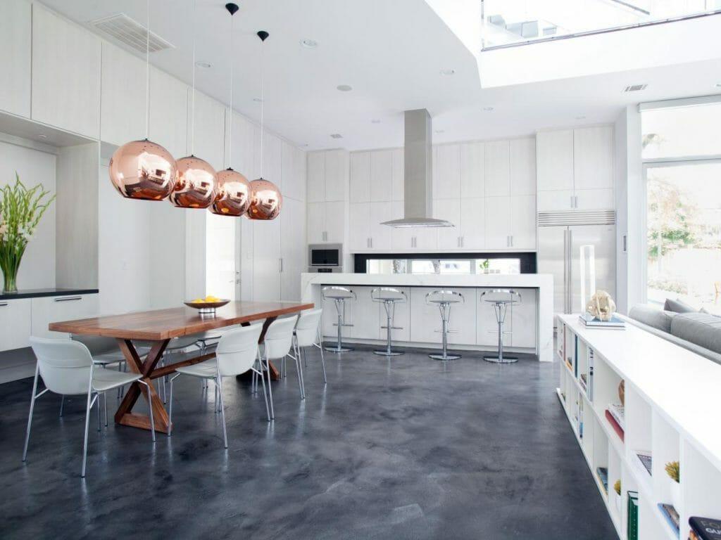 beautiful kitchen floor coating