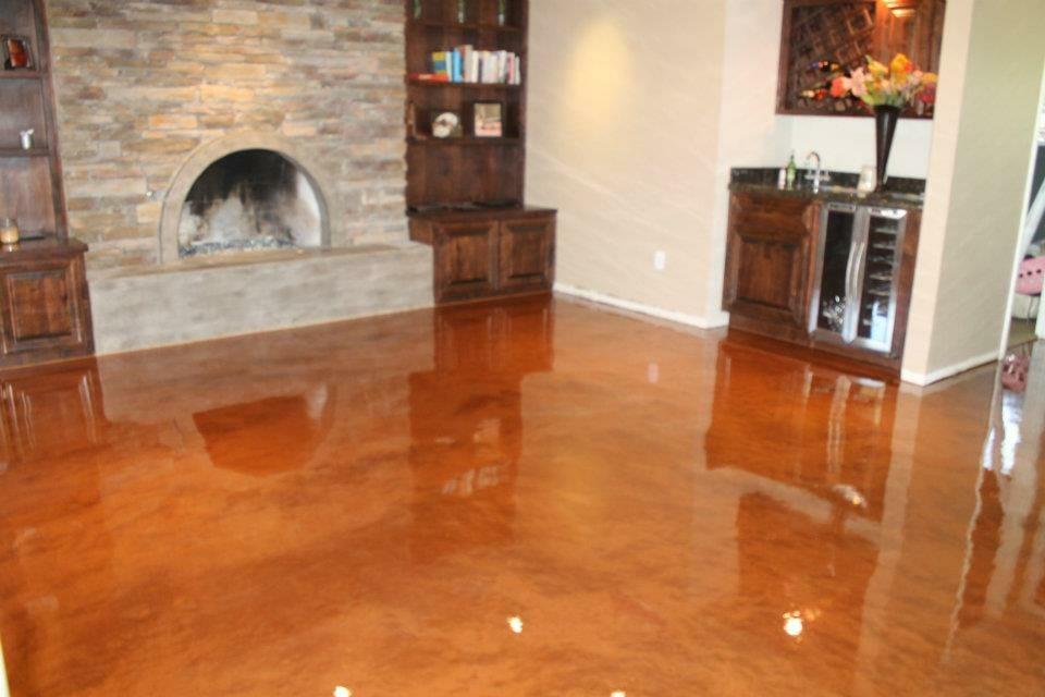 gloss epoxy finished floor