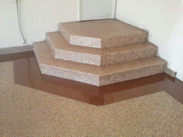 garage stairs landing coating