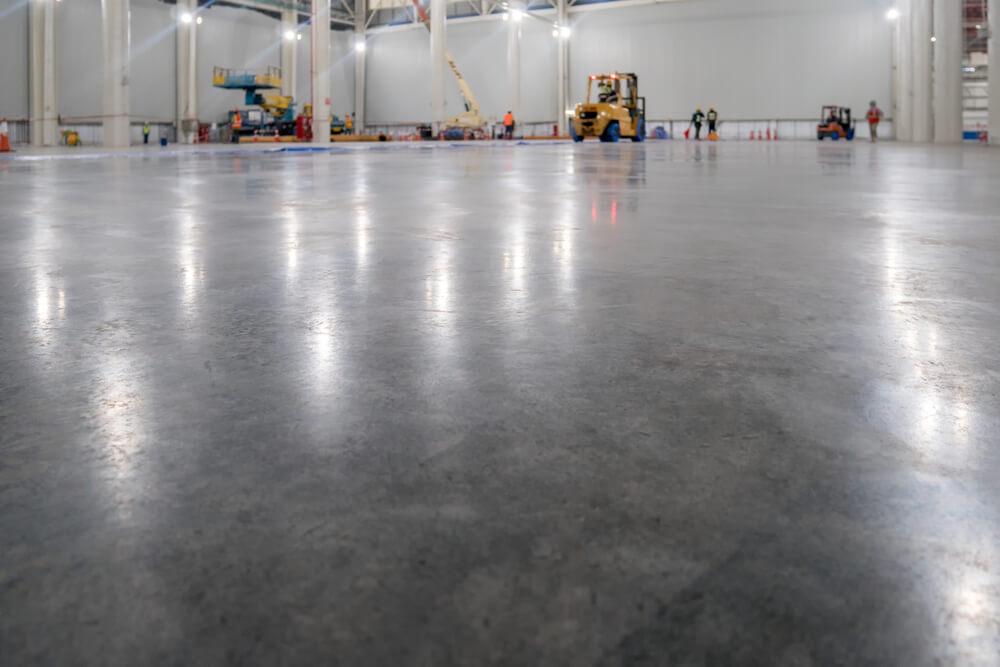 finished semi gloss warehouse floor coating